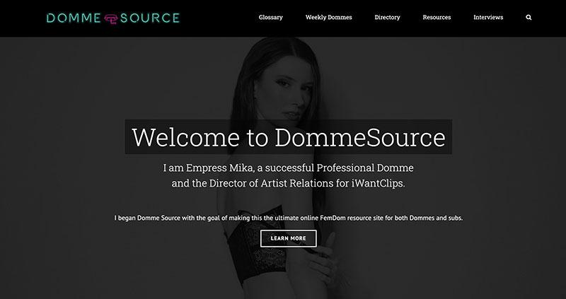 Domme Source Femdom website design